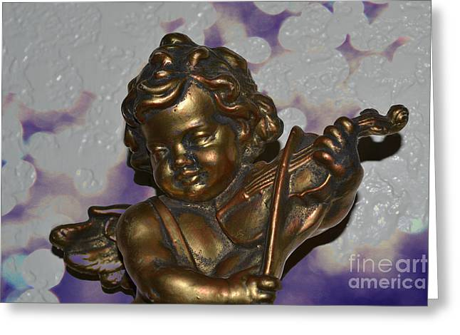 Bible Greeting Cards - Cherub Greeting Card by Beverly Guilliams