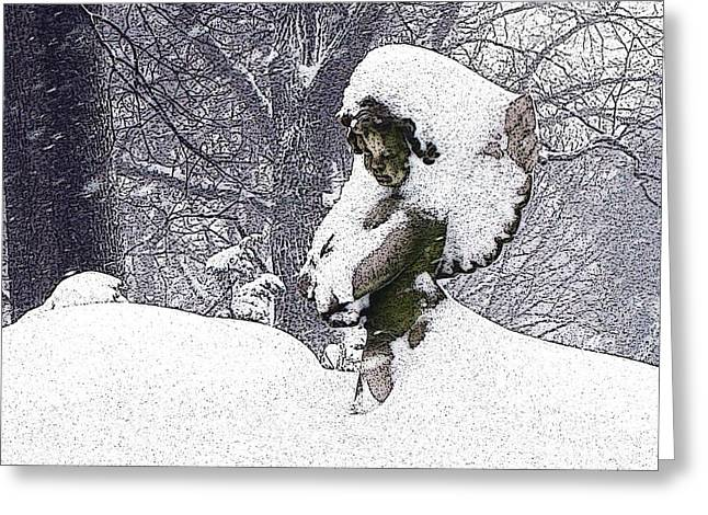 Missing Child Digital Art Greeting Cards - Cherub of the Blizzard Greeting Card by Teak  Bird