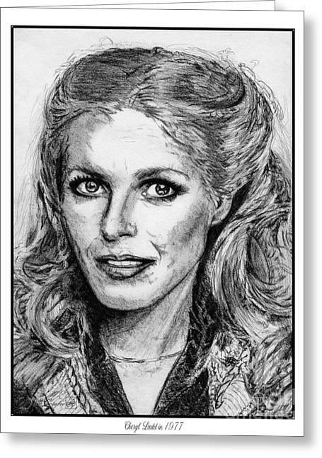 Fame Drawings Greeting Cards - Cheryl Ladd in 1977 Greeting Card by J McCombie