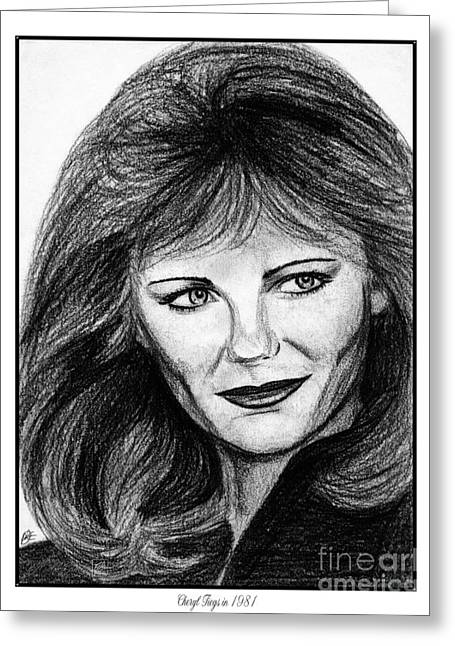 Sports Illustrated Greeting Cards - Cheryl Tiegs in 1981 Greeting Card by J McCombie