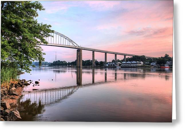 Delmarva Greeting Cards - Chesapeake City Pastels Greeting Card by JC Findley