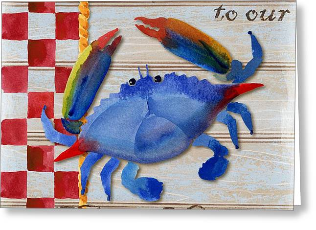 Rope Greeting Cards - Chesapeake Crab Greeting Card by Paul Brent