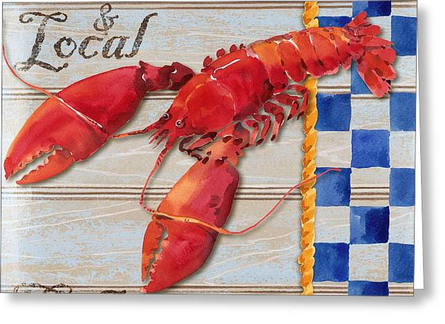 Lobster Shack Paintings Greeting Cards - Chesapeake Lobster Greeting Card by Paul Brent
