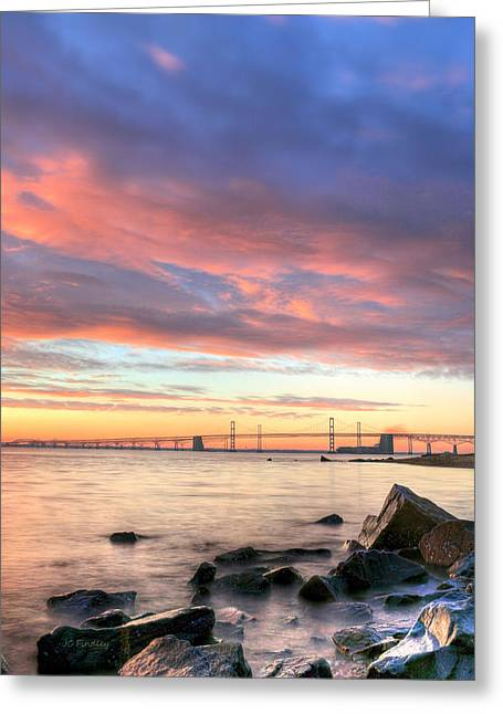 Sandy Point Park Greeting Cards - Chesapeake Mornings  Greeting Card by JC Findley