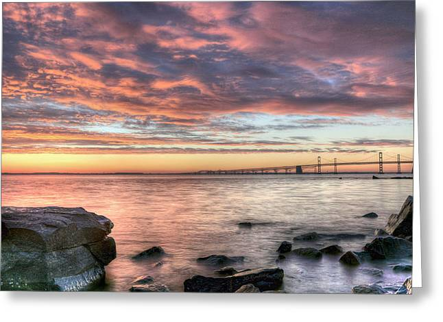 Chesapeake Bay Bridge Greeting Cards - Chesapeake Splendor  Greeting Card by JC Findley