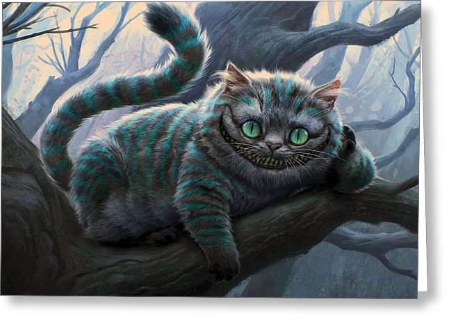 Movie Poster Prints Greeting Cards - Cheshire Cat Greeting Card by Movie Poster Prints