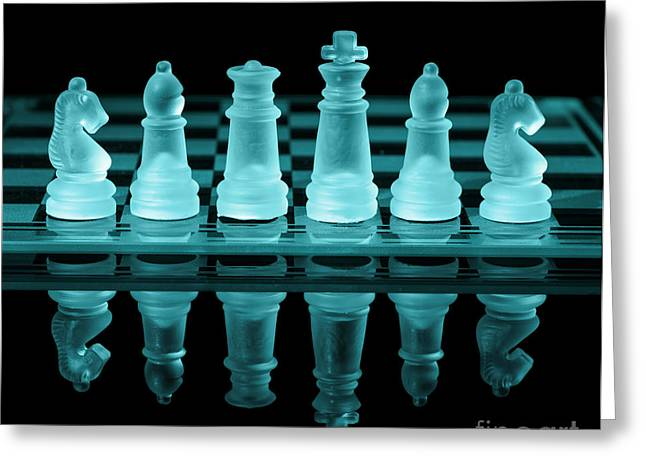 Chess Rook Greeting Cards - Chess Board Greeting Card by Amanda And Christopher Elwell