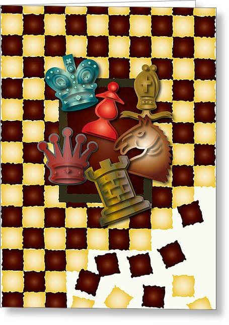 Chess Piece Digital Greeting Cards - Chess Boxes Greeting Card by Ym Chin