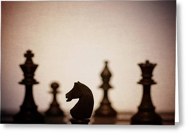 Chess Rook Greeting Cards - Chess Greeting Card by Amanda And Christopher Elwell