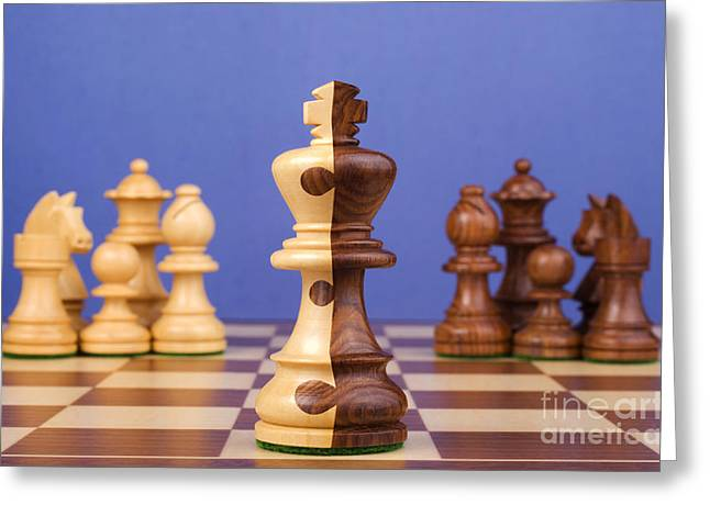 Merging Greeting Cards - Chess Corporate Merger Greeting Card by Colin and Linda McKie