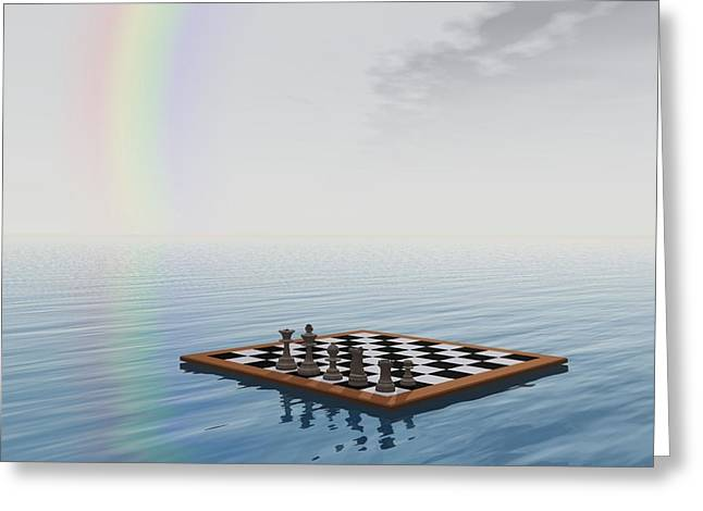 Strategy Mixed Media Greeting Cards - Chess Greeting Card by FL collection