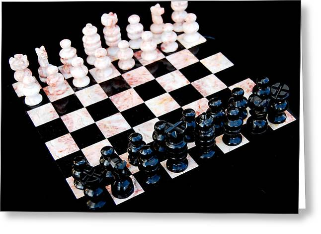 Chess Set Greeting Cards - Chess Greeting Card by Gina Dsgn