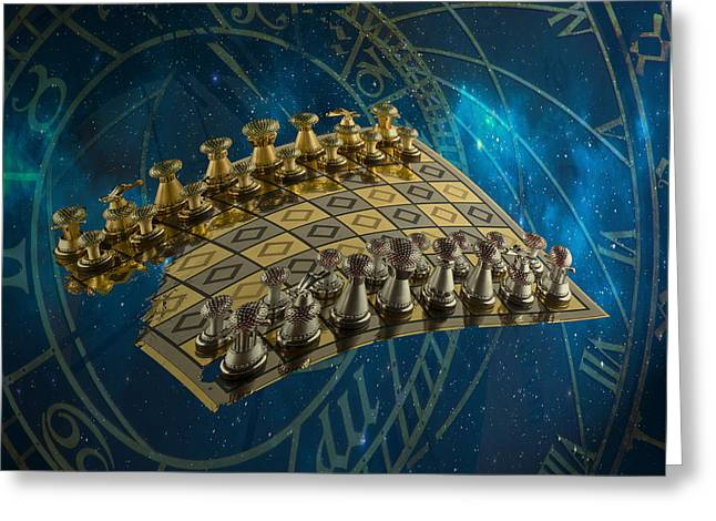 Chess Piece Digital Greeting Cards - Chess  Greeting Card by Jessi Tesla
