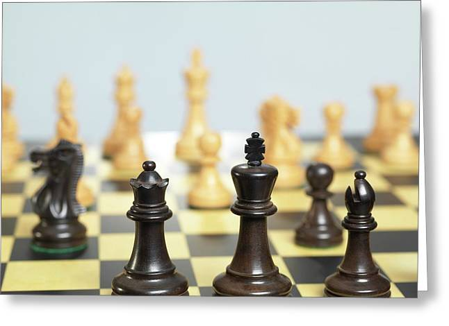 Chess Match Greeting Card by Tek Image