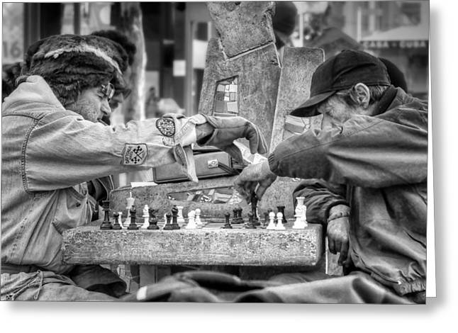 Chess On The Mall #2 Greeting Card by Nikolyn McDonald