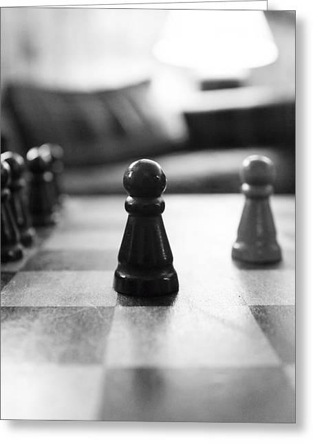 Undecided Greeting Cards - Chess Pan Greeting Card by Dejan  Cvetkovski