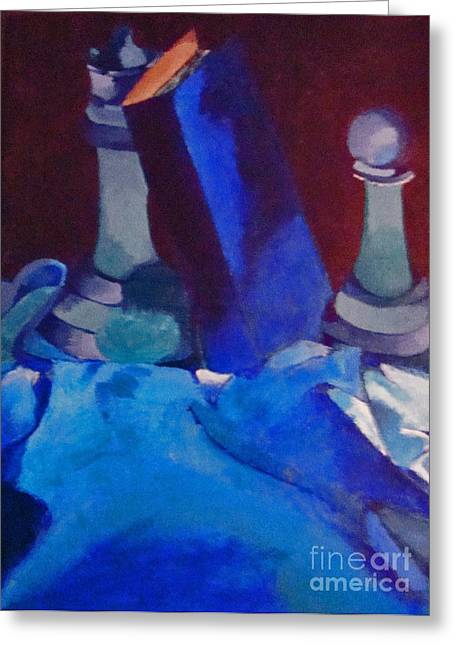 Chess Piece Paintings Greeting Cards - Chess Peace Greeting Card by Brittany Perez