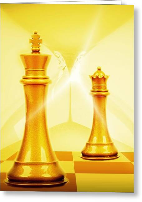Pierre Chamblin Greeting Cards - Chess Greeting Card by Pierre Chamblin