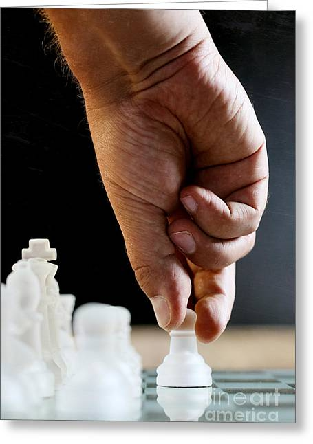 Chess Player Greeting Cards - Chess Player Greeting Card by Jana Behr