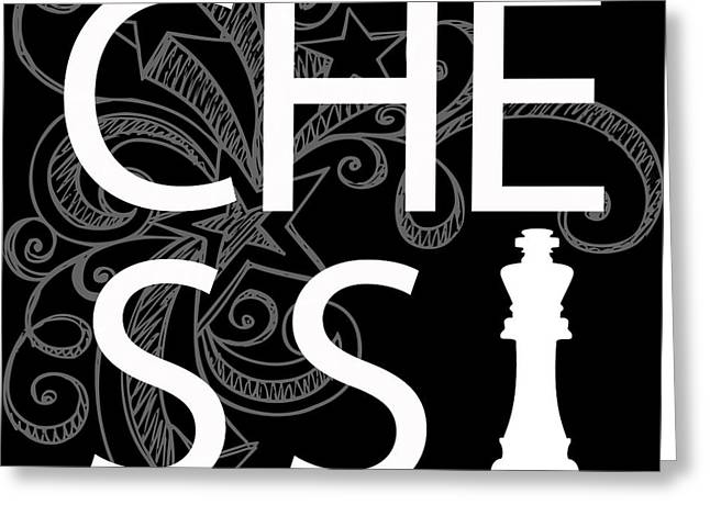 Offense Digital Art Greeting Cards - CHESS the GAME of KINGS Greeting Card by Daniel Hagerman