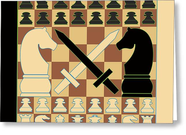 Chess Piece Digital Greeting Cards - Chess Greeting Card by Vicki Podesta