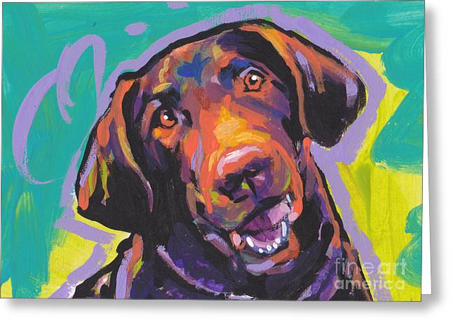 Dog Portraits Greeting Cards - Chessie Smile Greeting Card by Lea