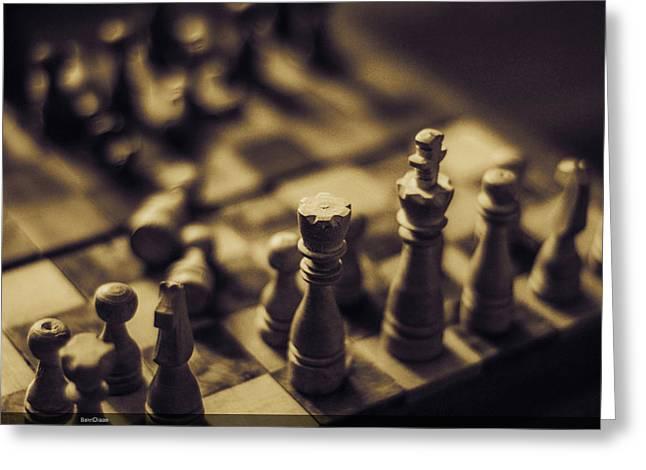 Chessmaster Greeting Card by Diaae Bakri
