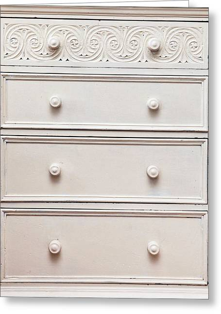 Cabinet Room Greeting Cards - Chest of drawers Greeting Card by Tom Gowanlock