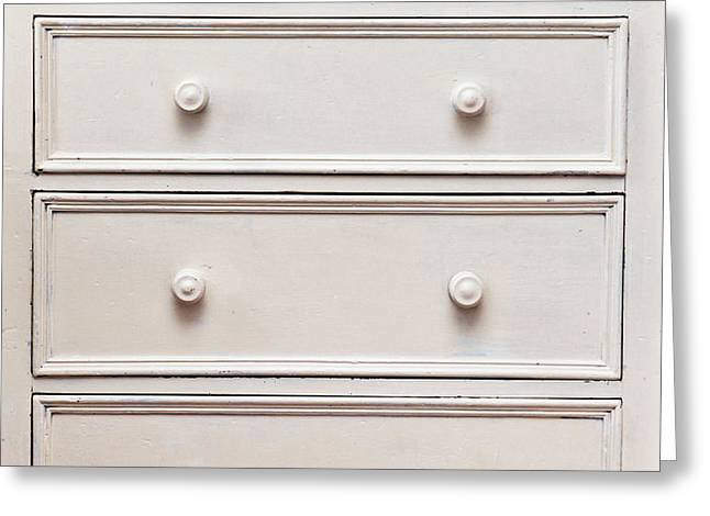 Chest of drawers Greeting Card by Tom Gowanlock
