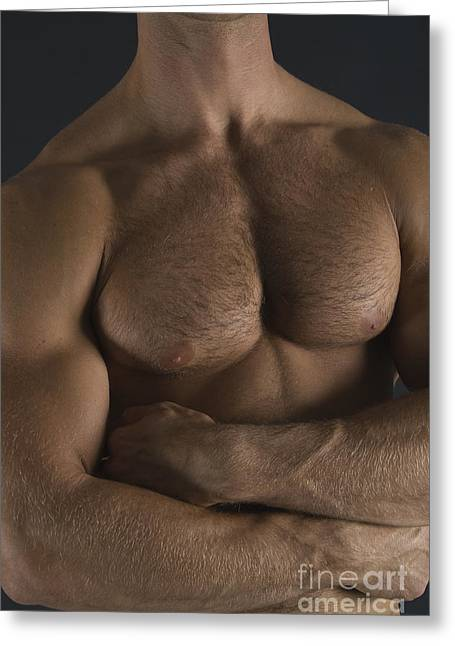 Pecs Greeting Cards - Chest Greeting Card by Thomas Mitchell