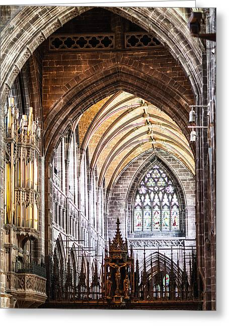 Sacral Greeting Cards - Chester Cathedral Greeting Card by Ralf Kaiser