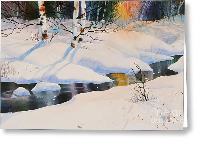 Sienna Greeting Cards - Chester Creek Shadows Greeting Card by Teresa Ascone