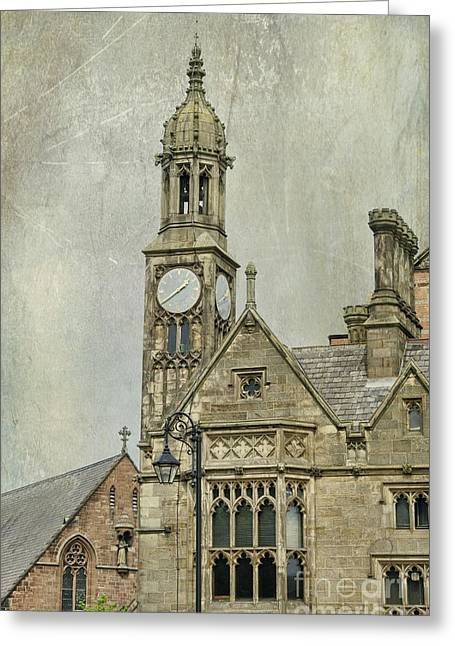 Medieval Clock Greeting Cards - Chester England Greeting Card by Juli Scalzi