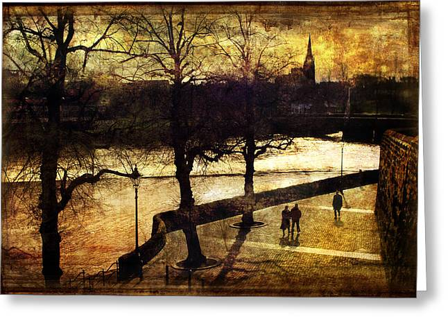 River Dee Greeting Cards - Chester Riverwalk Greeting Card by Mal Bray
