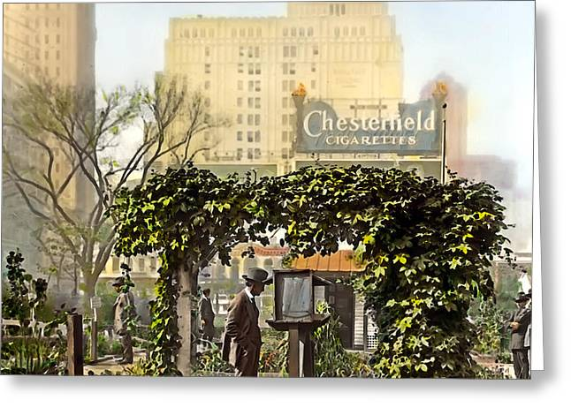 Chesterfield Cigarettes Greeting Card by Terry Reynoldson