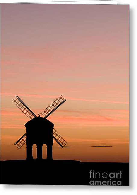 Chesterton Windmill Greeting Card by Anne Gilbert