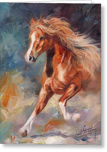 Equine Artist Equine Art Prints Greeting Cards - Chestnut Beauty Greeting Card by David Stribbling