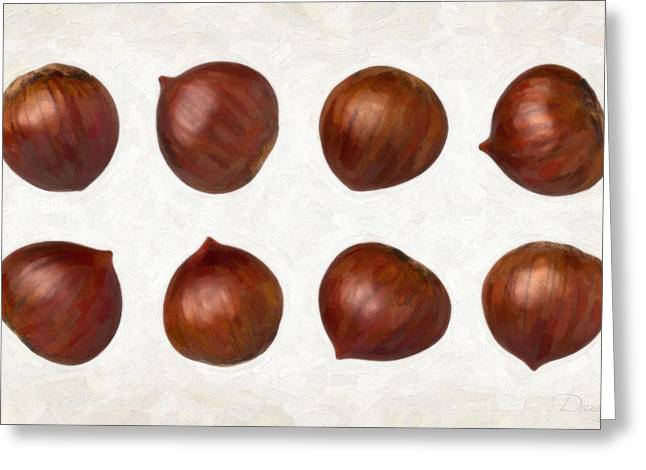 Single Object Paintings Greeting Cards - Chestnuts Greeting Card by Danny Smythe