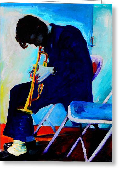 Vocal Greeting Cards - Chet Baker Greeting Card by Vel Verrept