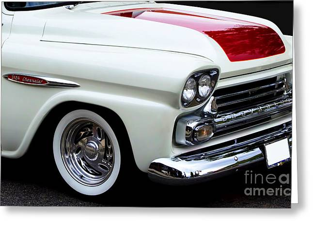 Red Chev Greeting Cards - Chev Truck Greeting Card by Steven Parker