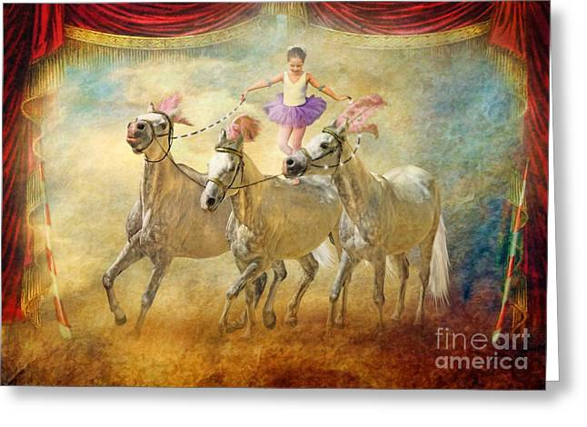 Ballet Dancers Greeting Cards - Cheval Danseur Greeting Card by Trudi Simmonds