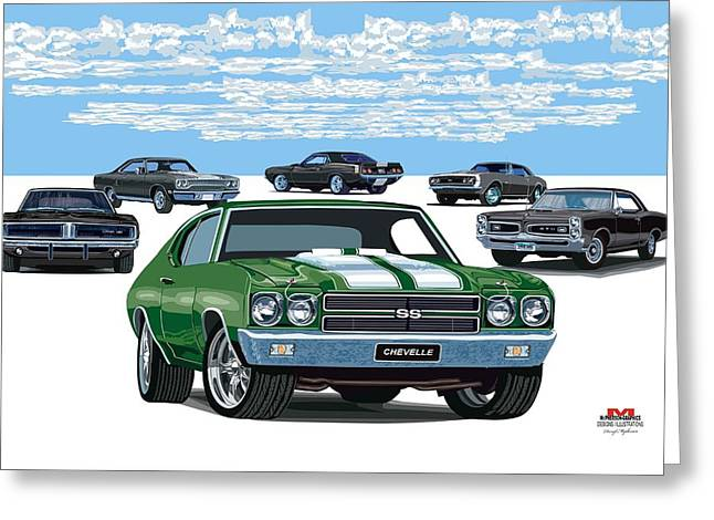 Chevelle 2 Greeting Card by DARRYL McPHERSON