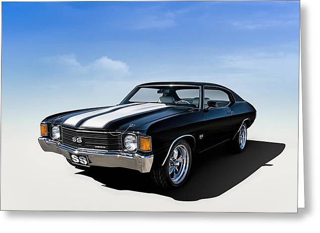 Striped Greeting Cards - Chevelle SS Greeting Card by Douglas Pittman