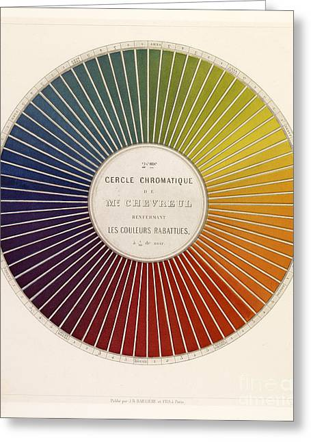 Color Wheel Art Greeting Cards - Chevreuls Chromatic Circle Greeting Card by Getty Research Institute