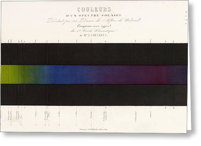 Spectrum Greeting Cards - Chevreuls Spectrum Greeting Card by Getty Research Institute