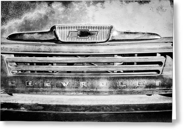 Classic Pickup Greeting Cards - Chevrolet 31 Apache Pickup Truck Emblem Greeting Card by Jill Reger