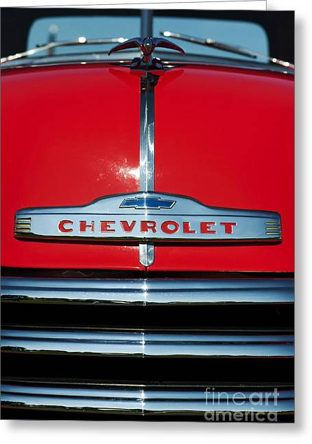 Front End Greeting Cards - Chevrolet 3100 1953 Pickup Greeting Card by Tim Gainey
