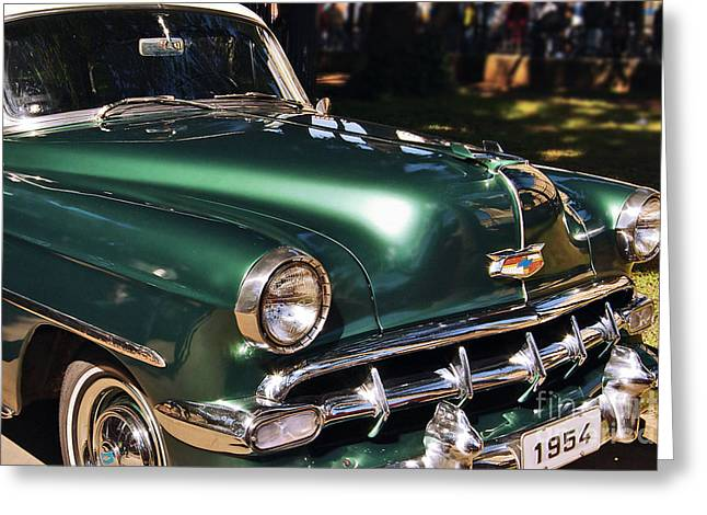 Cole Greeting Cards - Chevrolet Bel Air 1954 Greeting Card by Carlos Alkmin