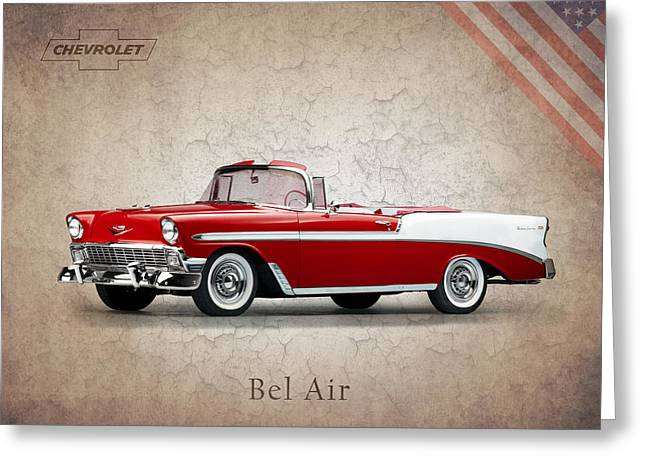 Chevrolet Photographs Greeting Cards - Chevrolet Bel Air 1956 Greeting Card by Mark Rogan