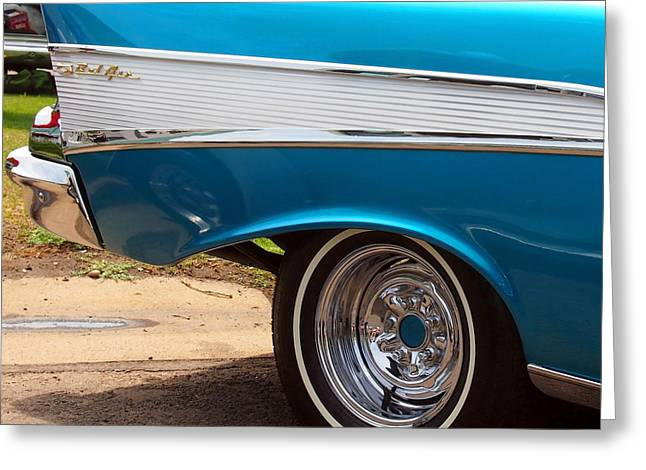 Mopar Collector Greeting Cards - Chevrolet Bel Air Classic Hot Rod Car Greeting Card by Amy McDaniel